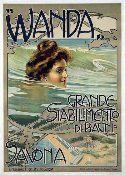"""Aleardo Terzi, """"Wanda"""", Grande Stabilimento di Bagni, Savona. Immagine di pubblico dominio condivisa da Halloween HJB via Flickr"""